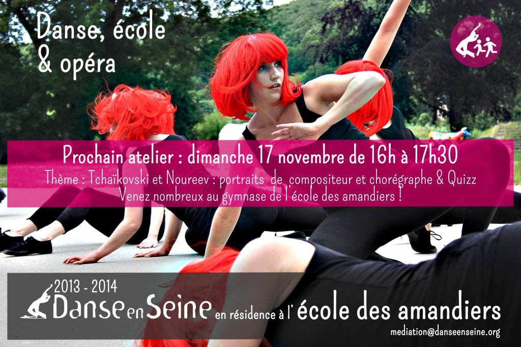 Atelier Danse en Seine à l'école des Amandiers à Paris : rendez-vous le 17 novembre !