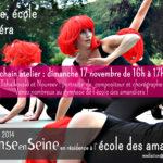 Dimanche 17 novembre : Prochain atelier du projet Danse, Ecole & Opéra